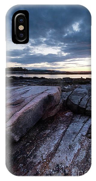 Dawn On The Shore In Southwest Harbor, Maine  #40140-40142 IPhone Case