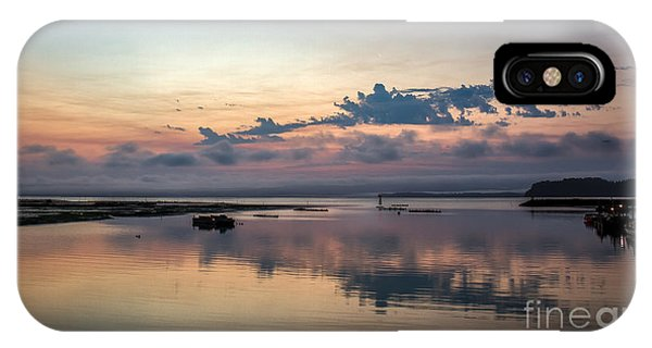 Tidal Marsh iPhone Case - Dawn On The Willapa Bay by Robert Bales