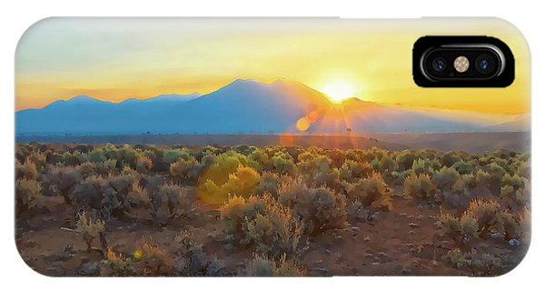 Dawn Over Magic Taos Mountain IPhone Case