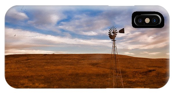 Dawn Prairie Windmill IPhone Case