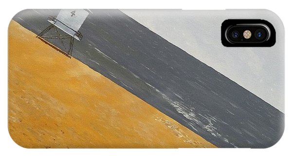 IPhone Case featuring the painting Day At The Beach by Kevin Daly