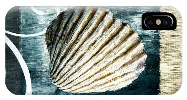 Shell Texture iPhone Case - Day At The Beach by Lourry Legarde