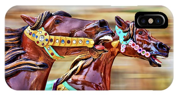 Carousel iPhone Case - Day At The Races by Evelina Kremsdorf