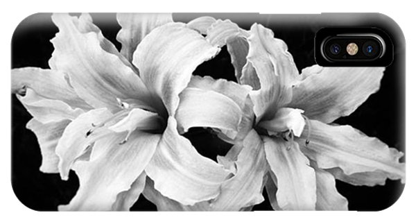 Iphoneonly iPhone Case - Day Lilies #noir #iphoneonly #iphone6 by Joan McCool