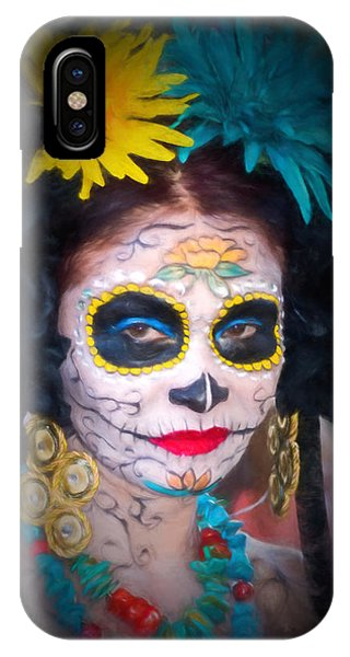 Day Of The Dead Flower Lady IPhone Case