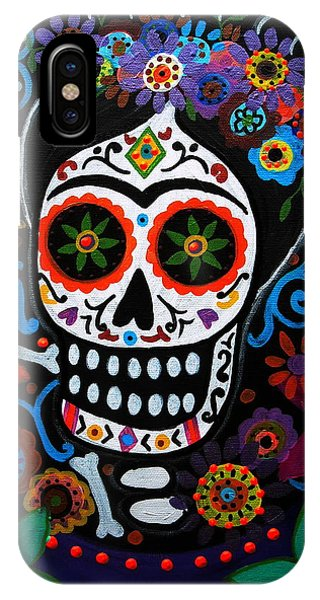 Day Of The Dead Frida Kahlo Painting IPhone Case