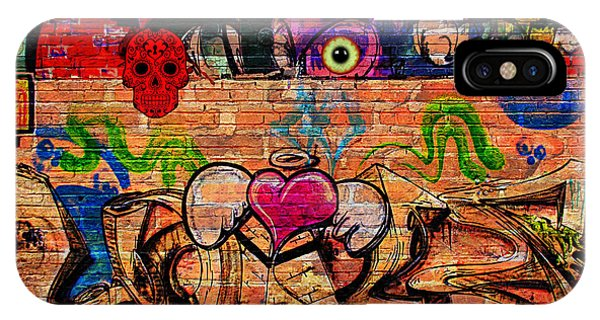 Day Of The Dead Street Graffiti IPhone Case