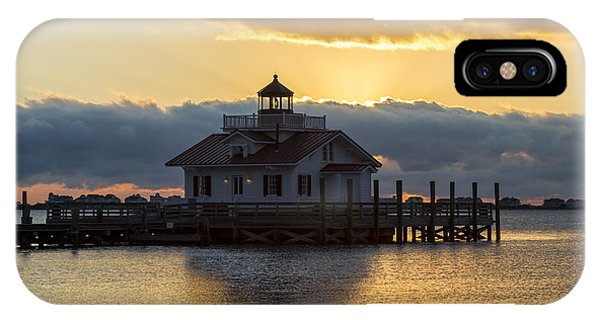 Daybreak Over Roanoke Marshes Lighthouse IPhone Case