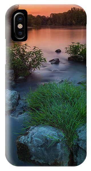 Daybreak Over The Old Riverbed IPhone Case
