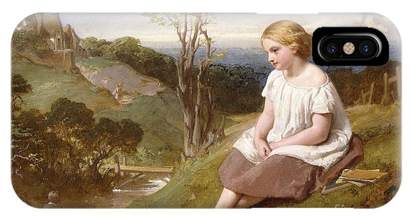 Deep Thought iPhone Case - Daydreaming On The River Bank by Henry Lejeune