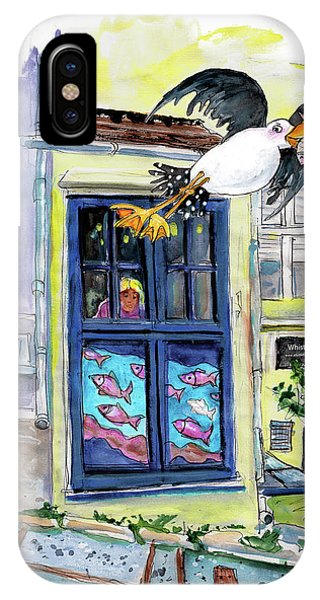 iPhone Case - Daylight Robbery At The Whistlefish House In Fowey by Miki De Goodaboom