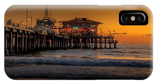 Daylight Turns Golden On The Pier IPhone Case