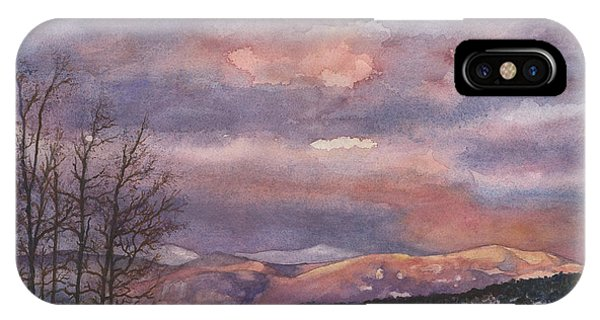 Rocky Mountain iPhone Case - Daylight's Last Blush by Anne Gifford