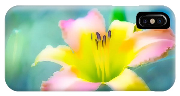 Daylily In Blue IPhone Case