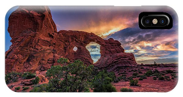 Day's End At Turret Arch IPhone Case