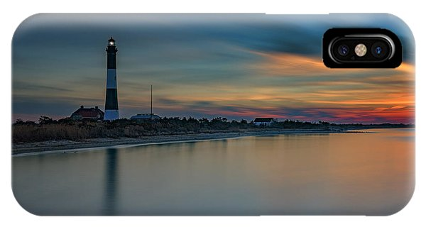 Navigation iPhone Case - Day's End On Fire Island by Rick Berk