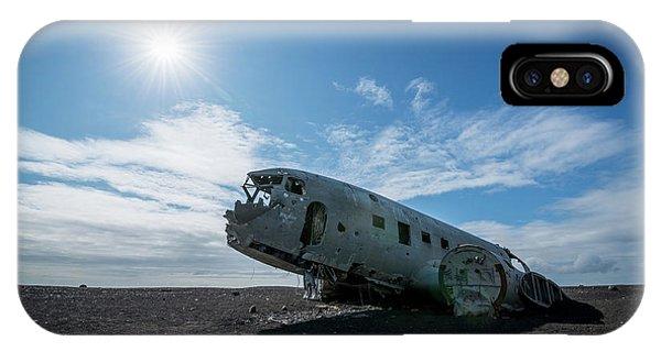 Black Sand iPhone Case - Dc 3 Crash by Michael Ver Sprill
