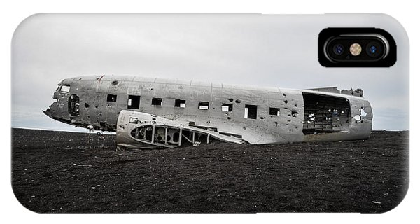 Dc-3 Wreck On The Solheimasandur IPhone Case