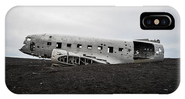 IPhone Case featuring the photograph Dc-3 Wreck On The Solheimasandur by Alex Blondeau