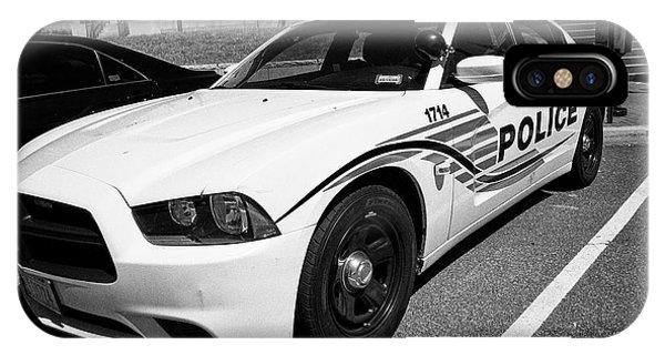dc metropolitan police patrol cruiser car judiciary square Washington DC USA IPhone Case