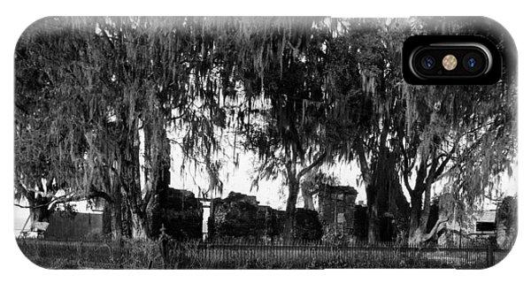 De La Ronde Plantation Home Ruins IPhone Case