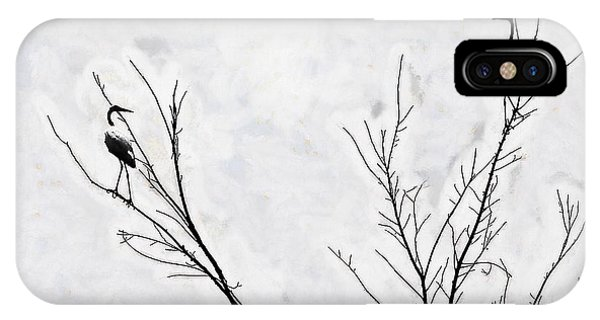 IPhone Case featuring the photograph Dead Creek Cranes by Jim Proctor