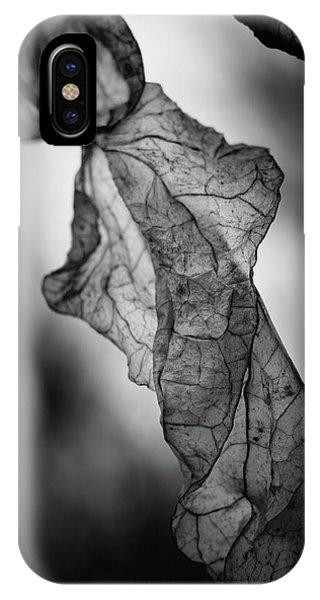 Fragile Leaf Bw IPhone Case