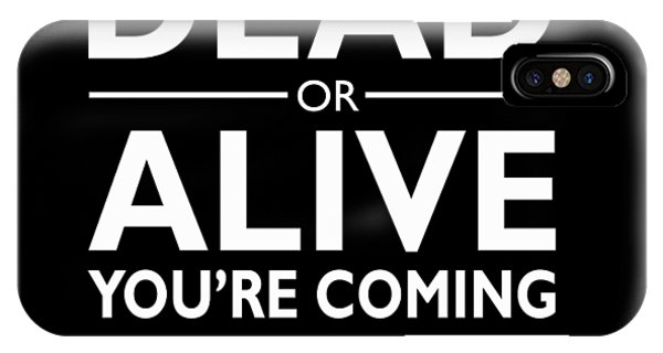 Alive iPhone Case - Dead Or Alive by Mark Rogan
