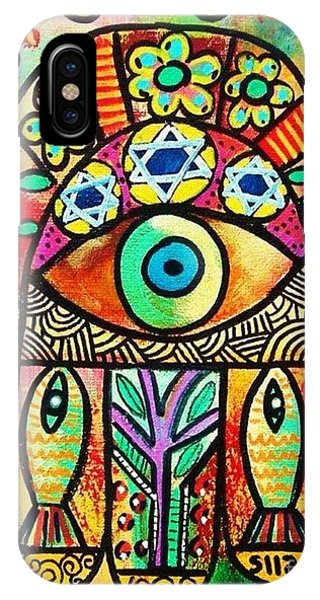 Dead Sea Fish Hamsa IPhone Case