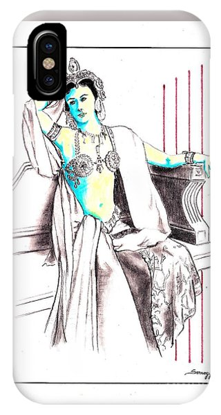 Deadly Diva, Mata Hari -- Portrait IPhone Case