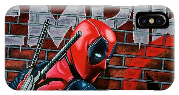 20th Century Man iPhone Case - Deadpool Painting by Paul Meijering