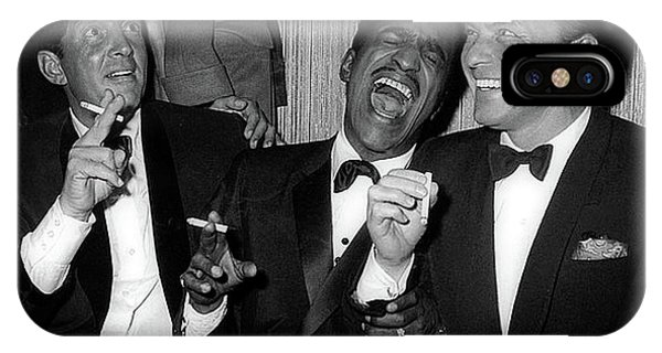 Dean Martin, Sammy Davis Jr. And Frank Sinatra Laughing IPhone Case