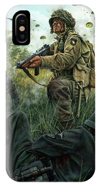 Normandy iPhone Case - Death From Above by Dan Nance