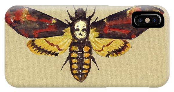 Moth iPhone Case - Death Head Hawk Moth by Juan Bosco