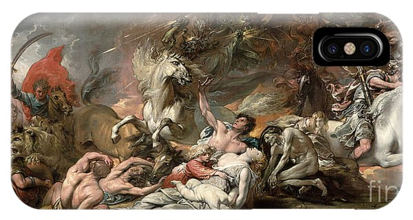 Horseman iPhone Case - Death On The Pale Horse by Benjamin West