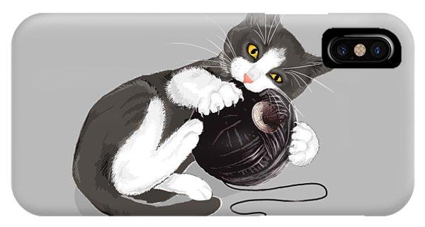 Cat iPhone Case - Death Star Kitty by Olga Shvartsur