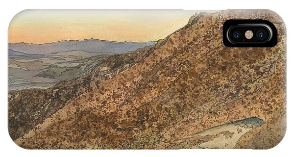 Death Valley From Dante's View  A November Sunset IPhone Case