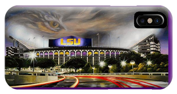 Baton Rouge iPhone Case - Death Valley Game Time by Mike Roberts
