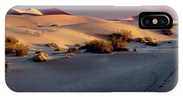 Death Valley National Park Mesquite Flat Sand Dunes IPhone Case