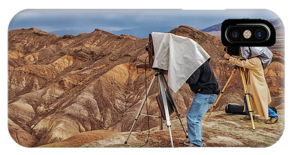 IPhone Case featuring the photograph Death Valley Photographers by Jim Dollar