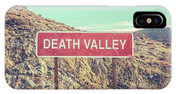 Desert iPhone Case - Death Valley Sign by Mr Doomits