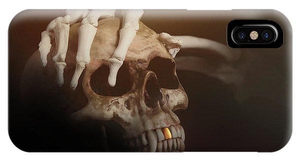 Beast iPhone Case - Death's Head by Tom Mc Nemar