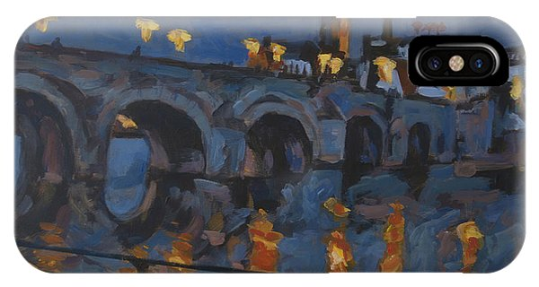 December Lights Old Bridge Maastricht Acryl IPhone Case