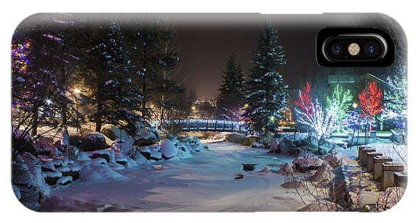December On The Riverwalk IPhone Case