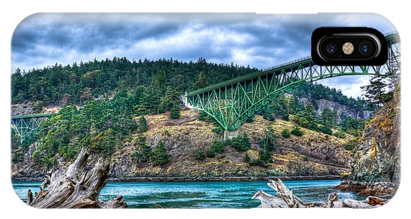 Whidbey iPhone Case - Deception Pass Bridge by David Patterson