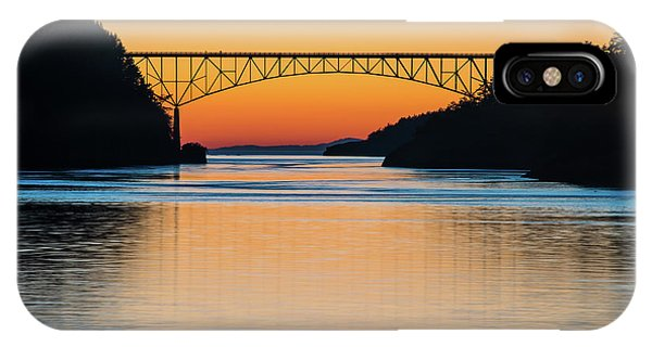 Whidbey iPhone Case - Deception Pass Bridge Evening Tranquility by Mike Reid