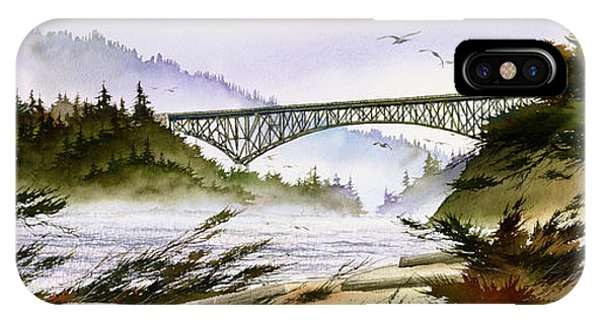 Whidbey iPhone Case - Deception Pass Bridge by James Williamson