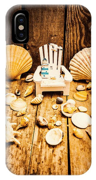 Beach Chair iPhone Case - Deckchairs And Seashells by Jorgo Photography - Wall Art Gallery