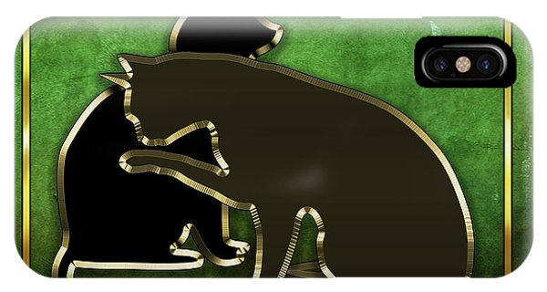 Deco Cats - Emerald IPhone Case