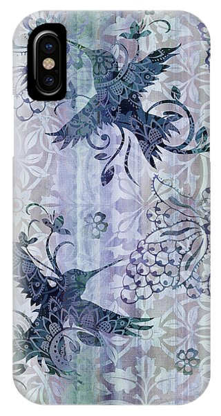 Humming Bird iPhone Case - Deco Hummingbird Blue by JQ Licensing